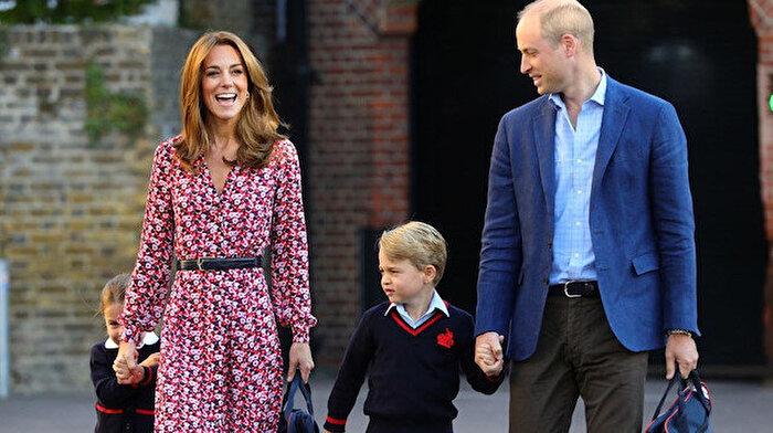 İngiliz Kraliyet Ailesi'nin Prenses'i Charlotte okula başladı: 'Kardeş indiriminden faydalandı'