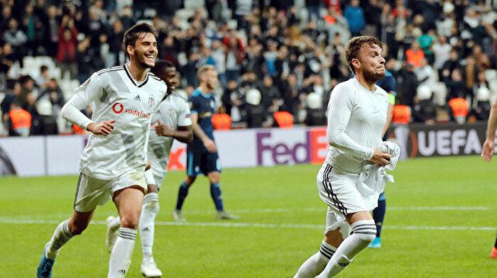 Beşiktaş Slovan Bratislava'yı 2-1 yendi