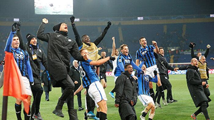 Atalanta Şampiyonlar Ligi tarihine geçti