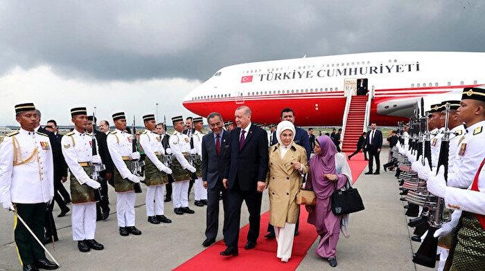 Cumhurbaşkanı Erdoğan Malezya'ya gitti