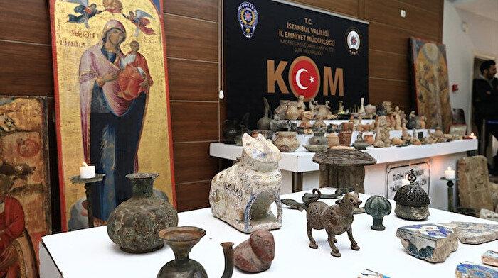 İstanbul'da 1134 parça tarihi eser ele geçirildi