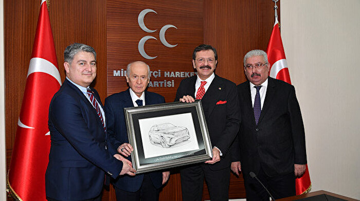 TOGG heyeti MHP Genel Başkanı Bahçeli'yi ziyaret etti