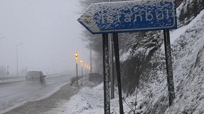 İstanbul için kar yağışı uyarısı: Saat 19.00'dan itibaren dikkat