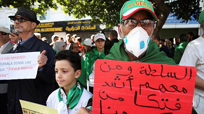 Cezayir'de gösterileri koronavirüs durdurdu