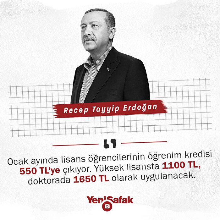 Erdoğan'dan öğrencilere müjde: Öğrenim kredisi artıyor