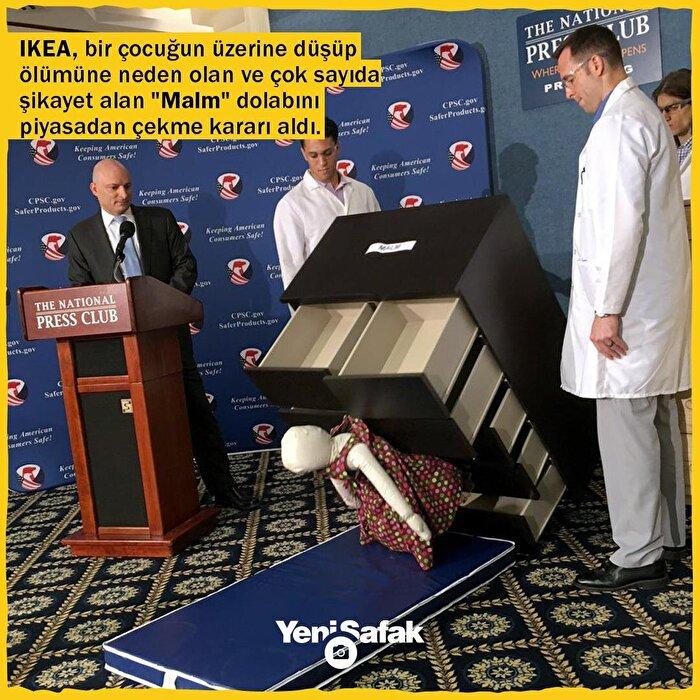 IKEA, bir çocuğun üzerine düşüp ölümüne neden olan ve çok sayıda şikayet alan