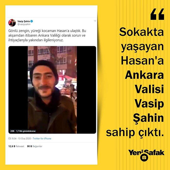 Sokakta yaşayan Hasan'a Ankara Valiliği sahip çıktı