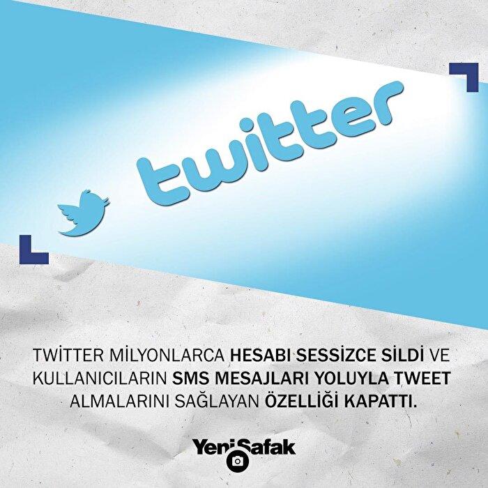 Twitter sms bağlantı özelliğini kaldırıp milyonlarca hesabı sildi.