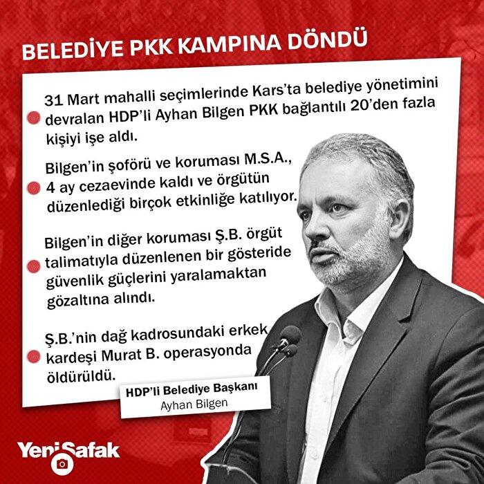 Belediye PKK kampına döndü