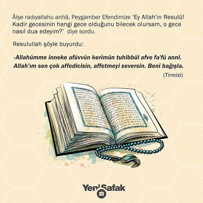 ''Allah'ım sen çok affedicisin, affetmeyi seversin''