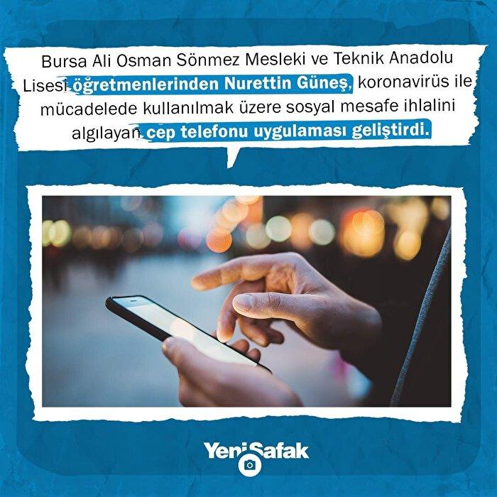 Meslek lisesi öğretmeni bluetooth ile çalışan 'sosyal mesafe ihlali' uygulaması geliştirdi.