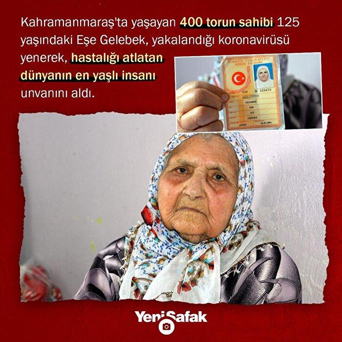 Koronavirüsü yenen dünyanın en yaşlı insanı Türkiye'den