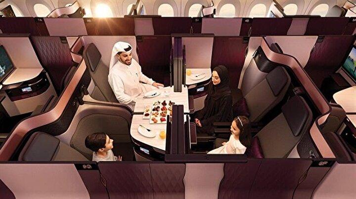 Qatar Airways, içinde çift kişilik yatak bulunduran seyahat seçeneği sundu
