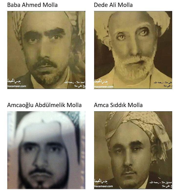 Kâbe müezzinliği görevinde bulunan Molla ailesi üyeleri.