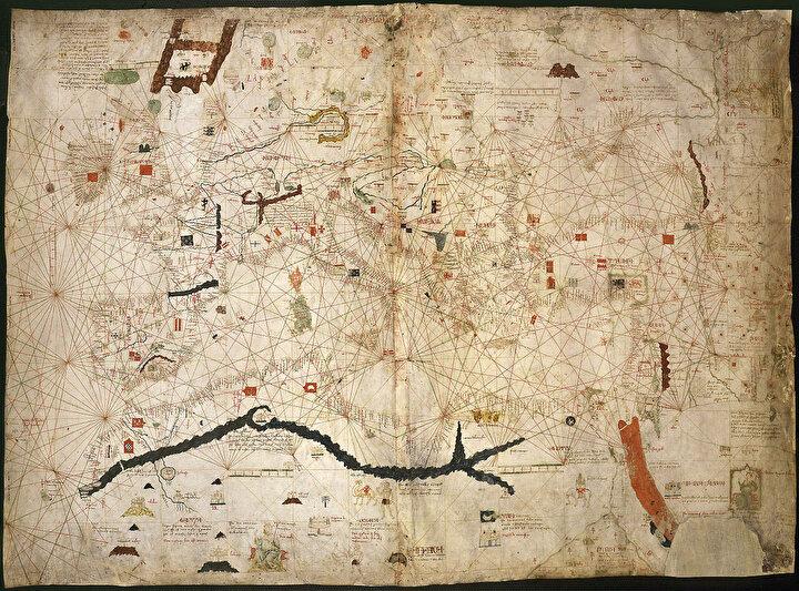 Mensa Musa'nın 1335 yılındaki Hac rotası. (Angelino Dulcert )
