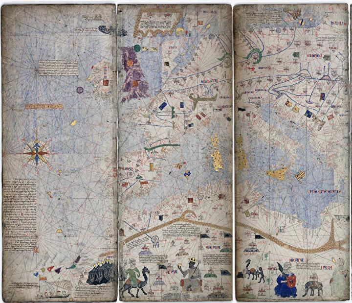 1375 yılında İspanyol bilimci Cresques Abraham'ın çizdiği Katalan Atlası'nda ortada en altta Mensa Musa elinde altın tutarken görülüyor.