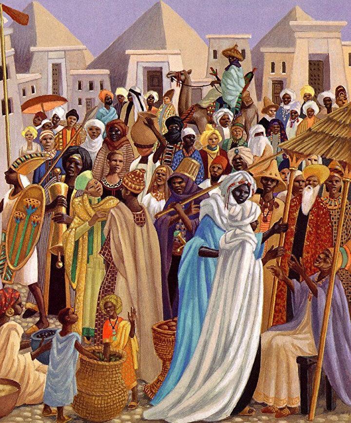 Mali İmparatorluğu döneminden halkın temsili resmi.