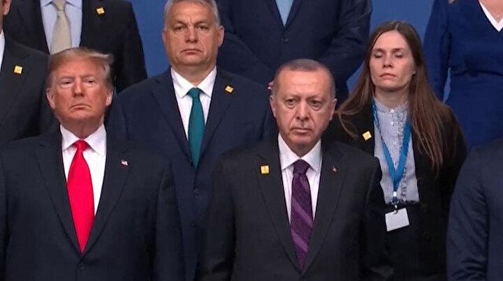NATO Zirvesi'nde aile fotoğrafı seremonisi