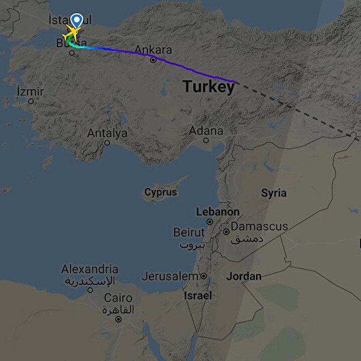 Pistten çıkan yolcu uçağının rotası