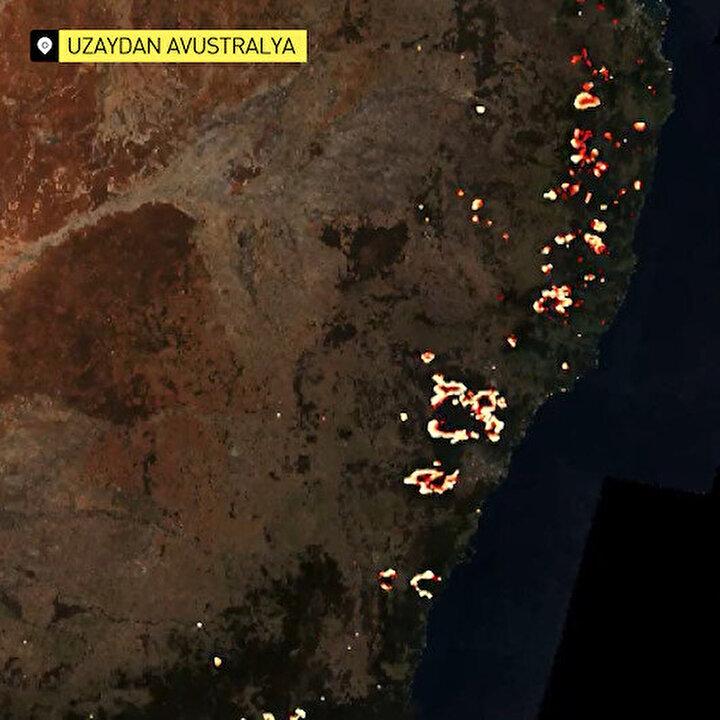 Avustralya'daki yangının uzaydan görüntüleri yayınlandı