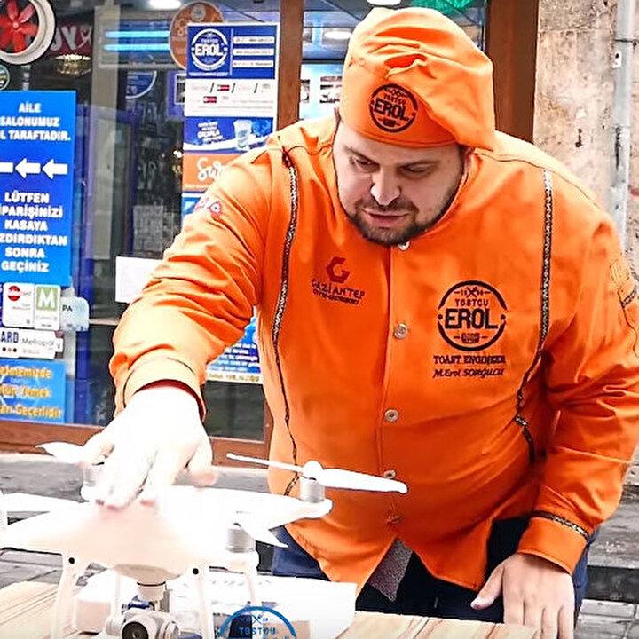 Tostçu Erol'dan TEKNOFEST 2020 Gaziantep'e drone'lu selam