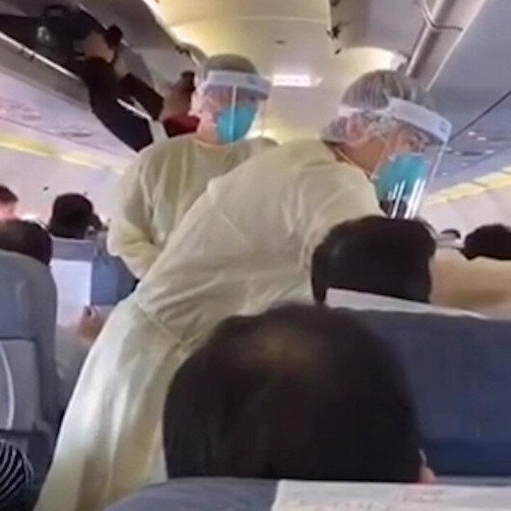 Çin'de 'gizli virüs' alarmı: Uçaktaki yolcular tek tek kontrol edildi