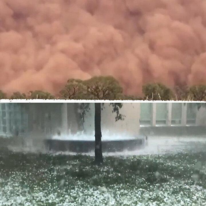 Avustralya'yı yangınların ardından bu kez de kum fırtınası ve dolu vurdu