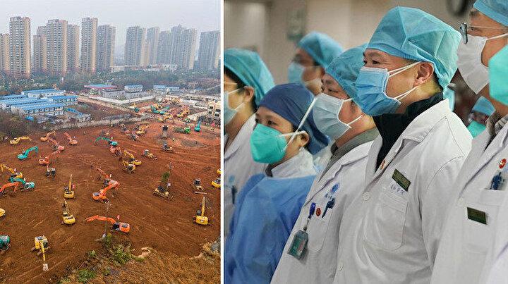 Çin'de koronavirüslü hastalar için inşa edilen 2. hastane bitmek üzere