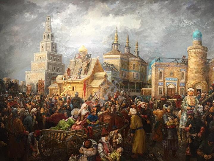 Kazan'ın Ruslar tarafından işgali.