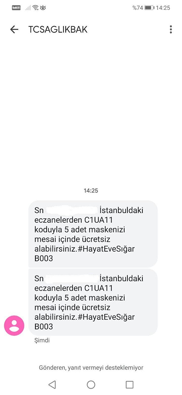 İstanbullulara gönderilen mesajlar