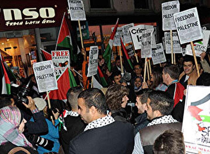 İsraile karşı dev protesto