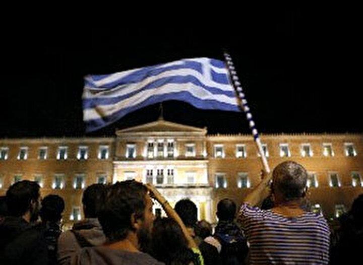 Yunanistandaki protestolar sakin