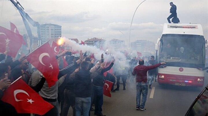 Cumhurbaşkanı Erdoğana Ankarada coşkulu karşılama