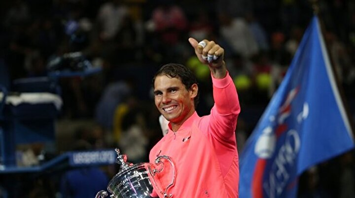 ABD Açık Tenis Turnuvası kupa töreni