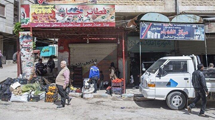 Afrin'de terörün izleri siliniyor