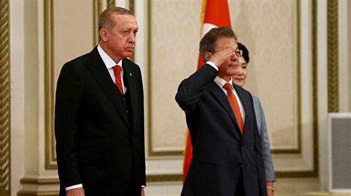 Erdoğana Koreli mevkidaşından asker selamı sürprizi
