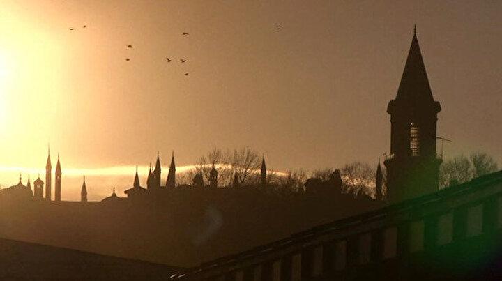 Güneşin doğumu İstanbullulara görsel şölen yaşattı