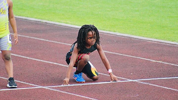 7 yaşında Usain Bolta rakip oldu