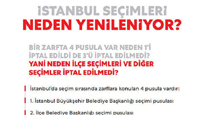 YSKnın İstanbul kararı için 6 sayfalık kitapçık