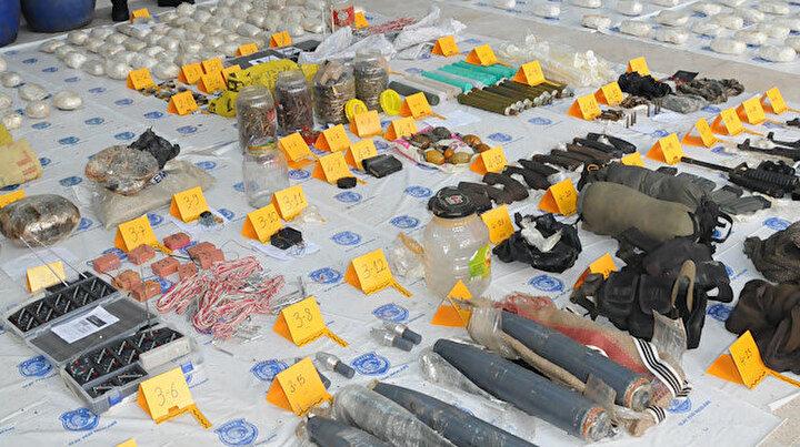 Diyarbakırda terör operasyonu: Yaklaşık 300 kilo patlayıcı ele geçirildi