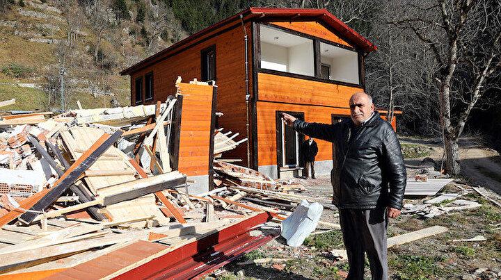 Uzungölde yanlışlıkla yıkıldığı iddia edilen bina kaçak çıktı