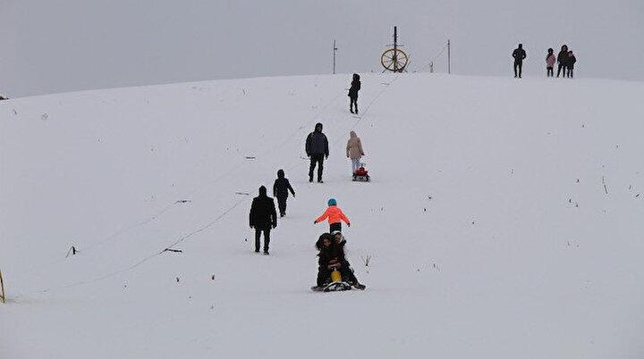 Hesarek'te kayak sezonu açıldı: Hedef 200 bin ziyaretçi