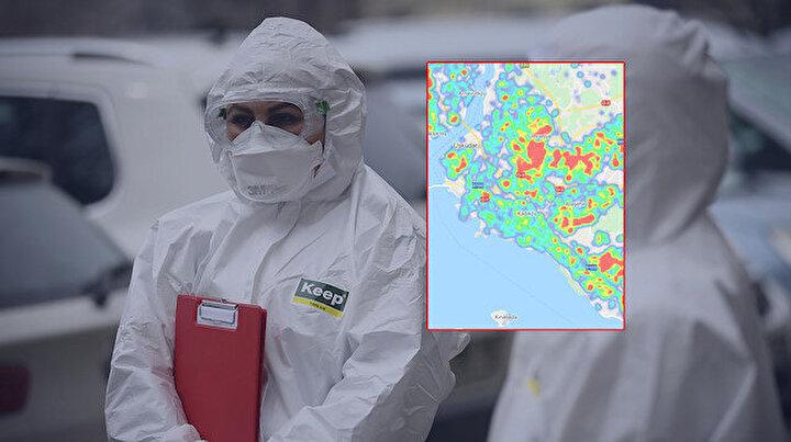 Türkiyedeki büyükşehirlerin koronavirüs yoğunluk haritası güncellendi