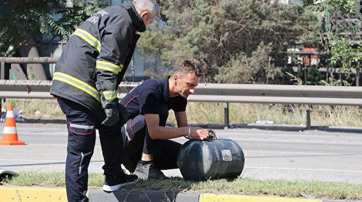 Faciadan kıl payı dönüldü: LPG tankı yola fırladı