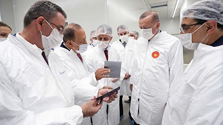 Cumhurbaşkanı Erdoğan, Kalyon Güneş Teknolojileri Fabrikasını açtı