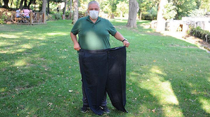 Tüp mide ameliyatı ve sporla 4 yılda 88 kilo veren muhtar hayata yeniden başladı