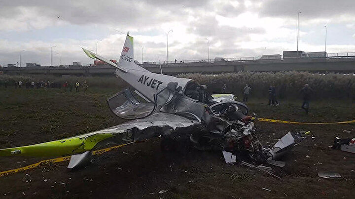 İstanbulda eğitim uçağı düştü