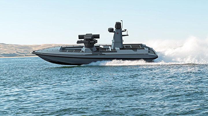 Türkiyenin ilk Silahlı İnsansız Deniz Aracı (SİDA) denize iniyor