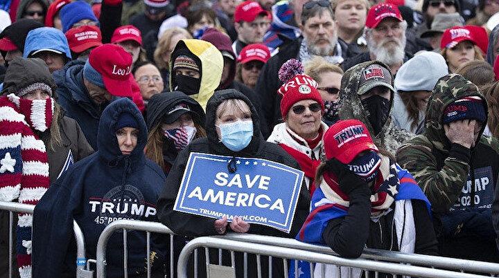 Trump sokakları karıştırdı: Protestocular kongre binasına yürüyor