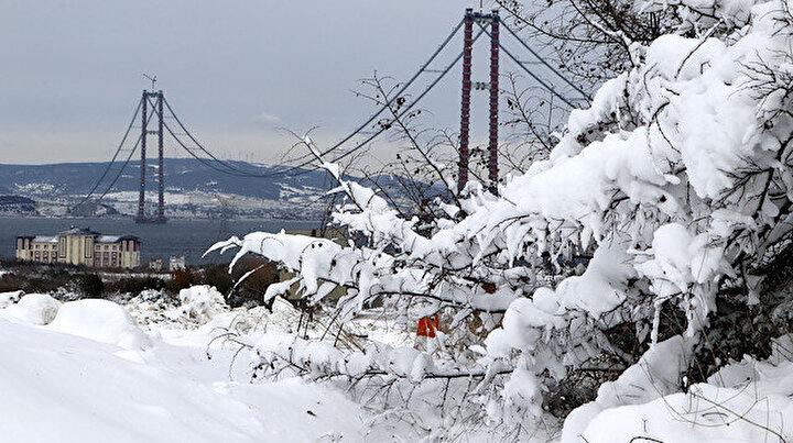 Simgelerin köprüsü: 1915 Çanakkale Köprüsünde kar manzaraları